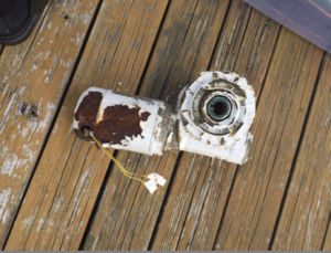 Removed old anchor windlass