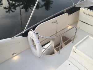 Flybridge lights on a 50' Viking Yachts