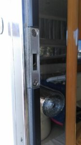 New stainless steel catch for the salon door