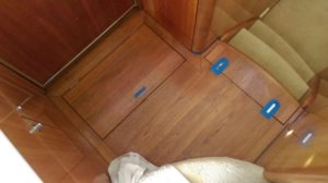 Staining galley floor