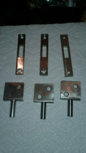 Metal parts duplication and replacement for VIP shower and salon door lock